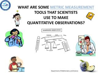 What are some  metric measurement  tools that scientists  use to make  quantitative observations?