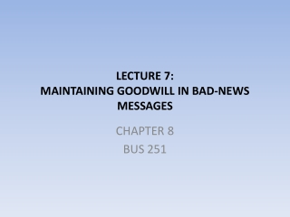 Chapter 7: Bad New Messages