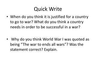 Quick Write