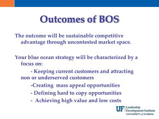 Outcomes of BOS