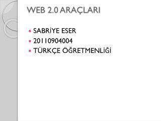 WEB 2.0 ARAÇLARI