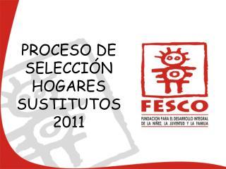 PROCESO DE SELECCI�N HOGARES SUSTITUTOS 2011
