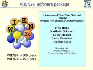 WIEN2k  software package