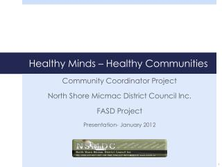 Healthy Minds � Healthy Communities