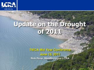 Update on the Drought of 2011