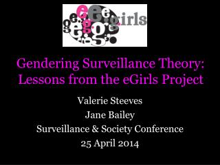 Gendering  Surveillance Theory: Lessons from the  eGirls  Project