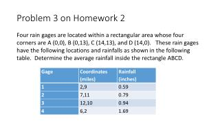 Problem 3 on Homework 2