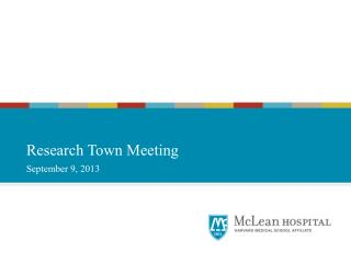 Research Town Meeting