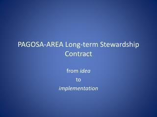 PAGOSA-AREA Long-term Stewardship Contract