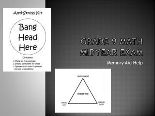 Grade 9 math midyear exam