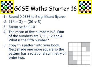 GCSE Maths Starter 16