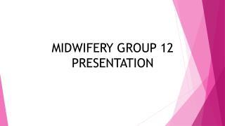 MIDWIFERY GROUP 12 PRESE NTATION