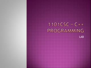 1101csc � C++ programming