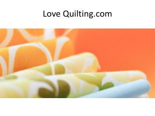 Love Quilting