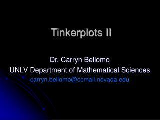 Tinkerplots II