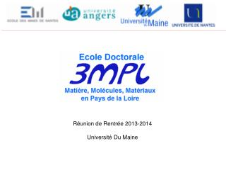 R�union de Rentr�e  2013-2014 Universit� Du Maine