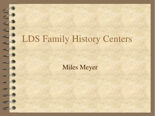 LDS Family History Centers