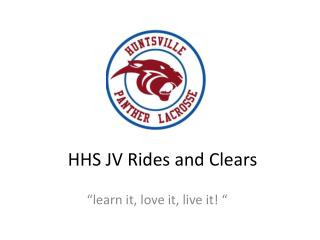 HHS JV Rides and Clears