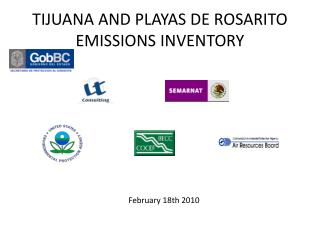 TIJUANA AND PLAYAS DE ROSARITO EMISSIONS INVENTORY