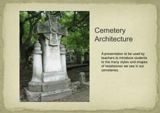 Cemetery Architecture