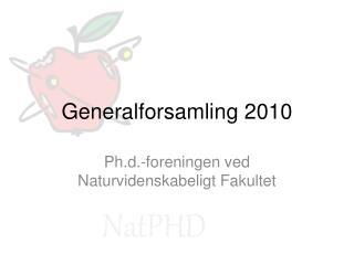 Generalforsamling 2010