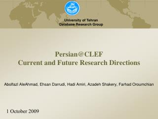 Persian@CLEF Current and Future Research Directions