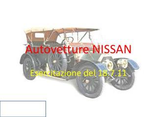 Autovetture NISSAN