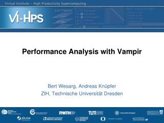 Performance  Analysis  with  Vampir