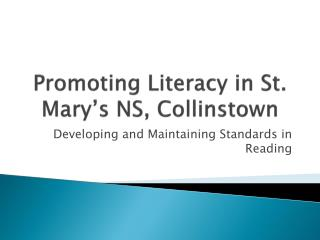 Promoting Literacy in  St. Mary's NS, Collinstown