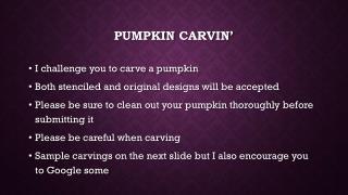 Pumpkin  carvin �