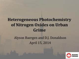 Heterogeneous Photochemistry of Nitrogen Oxides on Urban Grime