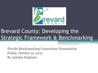 Brevard County: Developing the Strategic Framework & Benchmarking