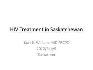 HIV Treatment in Saskatchewan