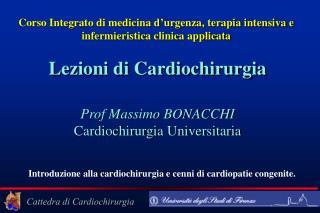 Corso Integrato di medicina d ' urgenza, terapia intensiva e infermieristica clinica applicata