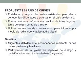 PROPUESTAS 01 PAIS DE ORIGEN