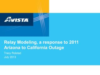 Relay  Modeling, a  response to 2011 Arizona to California  Outage