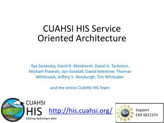 CUAHSI HIS Service Oriented Architecture