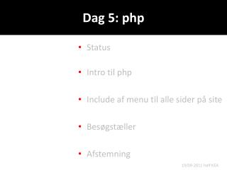 Dag 5:  php