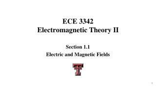 ECE 3342 Electromagnetic Theory II