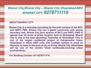 Bharat City,Bharat City – Bharat City Ghaziabad,BBC BHARAT C