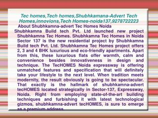 Tec homes,Tech homes,Shubhkamana-Advert Tech Homes,innovions