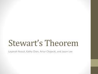 Stewart�s Theorem