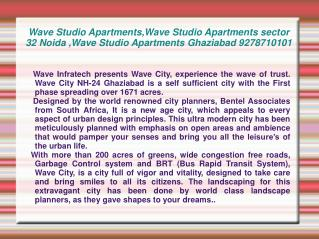 Wave Studio Apartments,Wave Studio Apartments sector 32 Noid