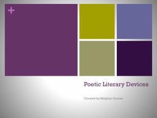 Poetic Literary Devices
