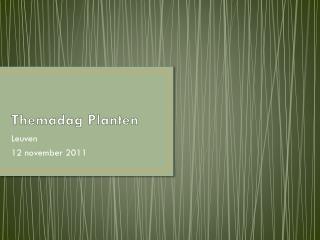 Themadag Planten