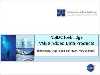NSIDC  IceBridge Value  Added Data Products