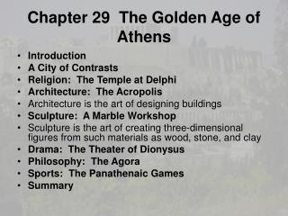 Chapter 29  The Golden Age of Athens