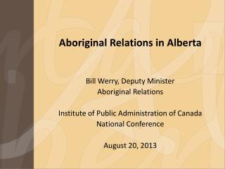 Aboriginal Relations in Alberta