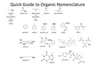 Quick Guide to Organic Nomenclature