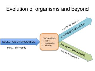 Evolution of organisms and beyond